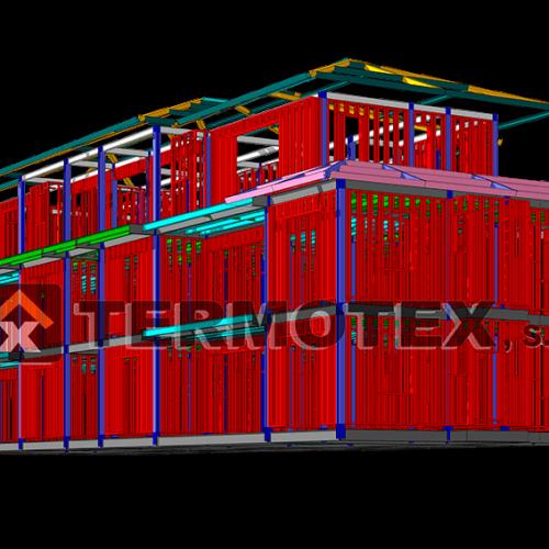 Edificio residencial de tres plantas - Termotex